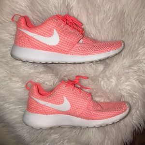 Coral colored Nike's
